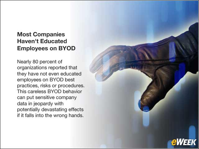 3 - Most Companies Haven't Educated Employees on BYOD