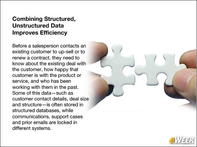 9 - Combining Structured, Unstructured Data Improves Efficiency