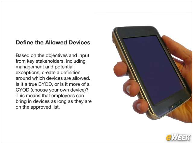 4 - Define the Allowed Devices