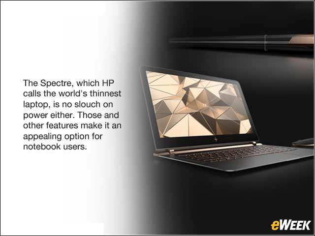 1 -  HP Spectre Notebook Packs Plenty of Power, Features in a Thin Design