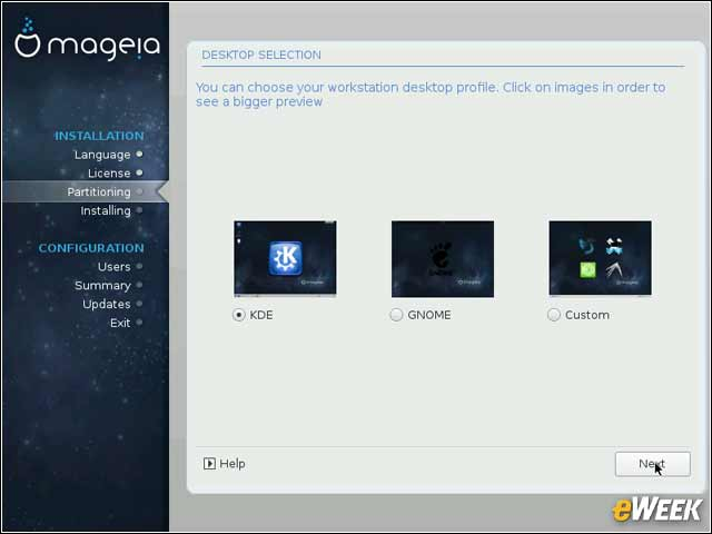 3 - Mageia Offers Several Desktop Choices