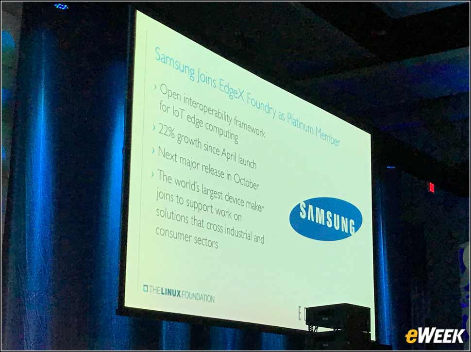 6 - Samsung Joins EdgeX Foundry