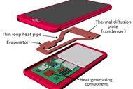 Fujitsu low profile heat pipe