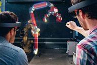 Microsoft HoloLens augmented reality headset