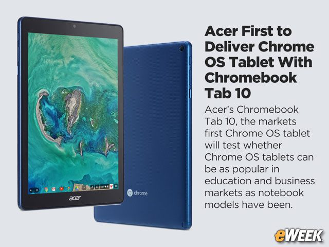 Acer First to Deliver Chrome OS Tablet With Chromebook Tab 10