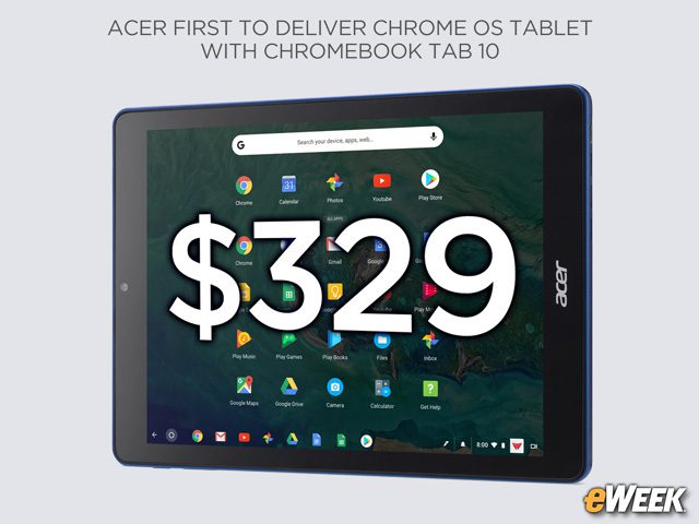 Acer to Ship Chromebook Tab 10 in April