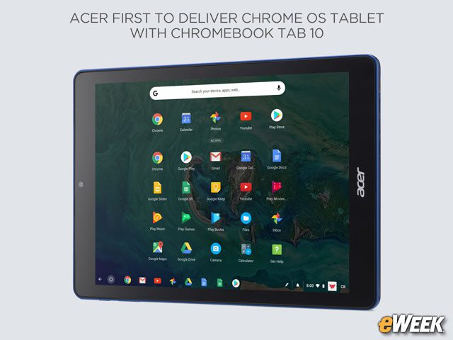 Chromebook Tab 10 Designed Mainly for Education