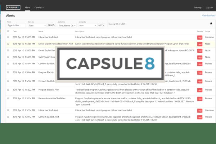 Capsule 8 1.0 Dashboard