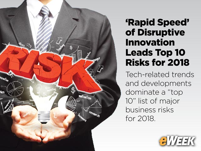 'Rapid Speed' of Disruptive Innovation Leads Top 10 Risks for 2018