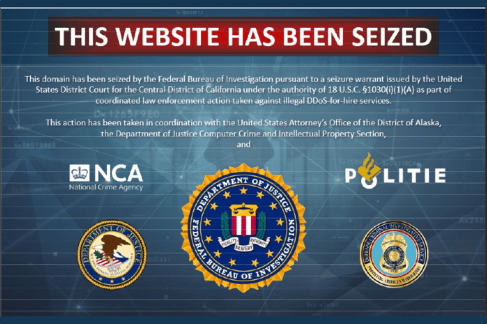 DoJ Site Seizure