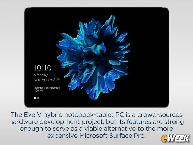 Eve V Uses Open-Source Concepts to Take on Microsoft's Surface Pro