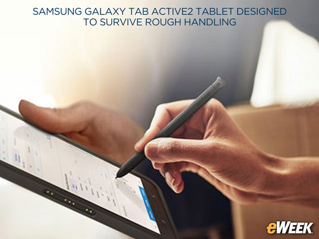 Galaxy Tab Active2 Supports S Pen Stylus