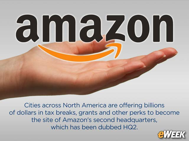 Cities Pile on Tax Breaks, Perks to Host New Amazon Headquarters
