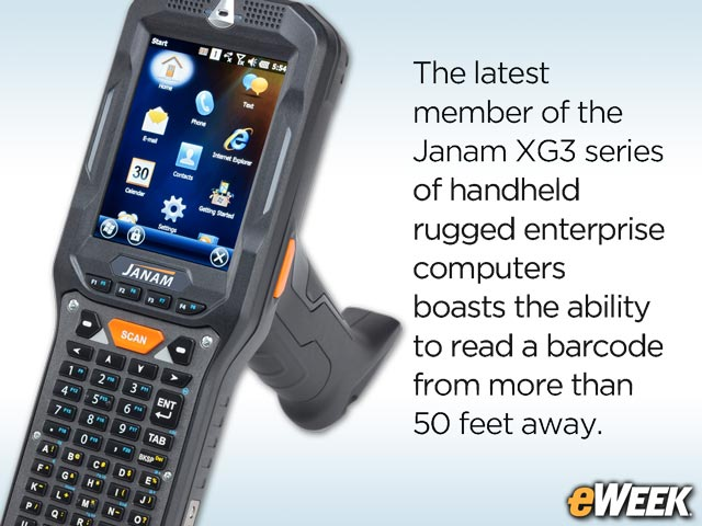Janam's XG3-ER Rugged Handheld Reads Distant and Obscured Barcodes