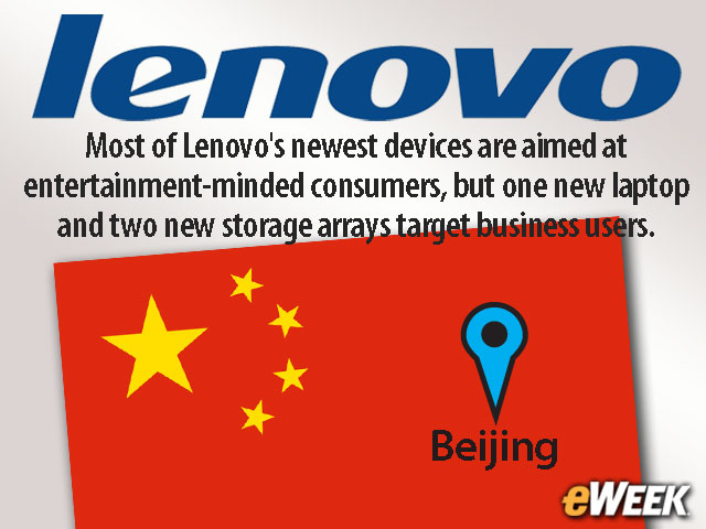 Lenovo Reveals Laptops, Tablet, Video Streaming Device at China Event