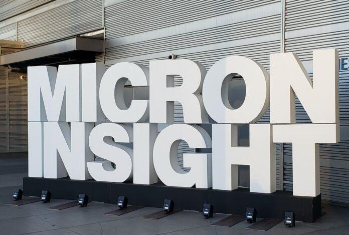 Micron Insight sign 2019