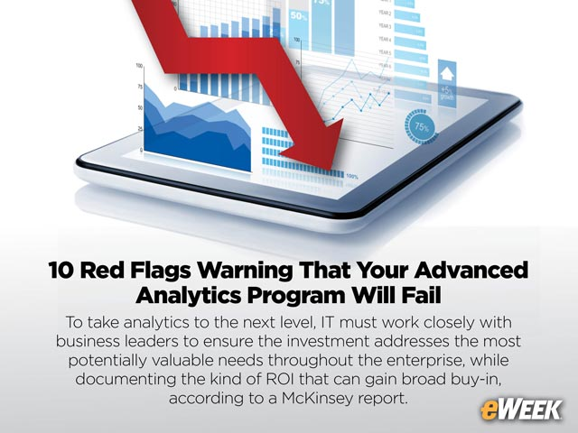 10 Red Flags Warning That Your Advanced Analytics Program Will Fail