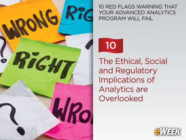 The Ethical, Social and Regulatory Implications of Analytics are Overlooked