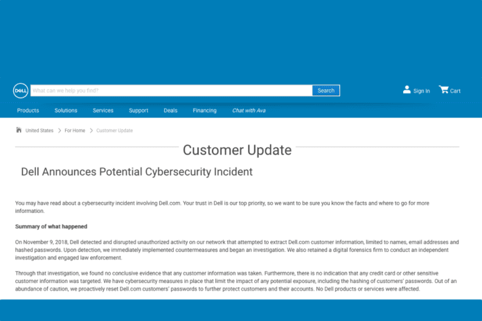 Dell security disclosure